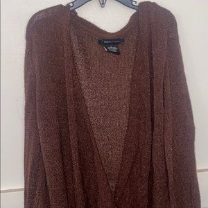 Brown deep v sweater